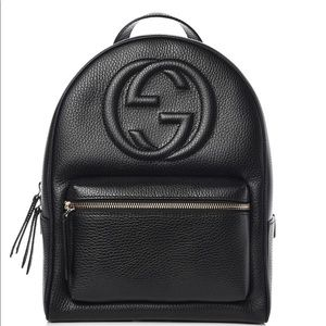 Authentic soho Gucci pebble leather backpack